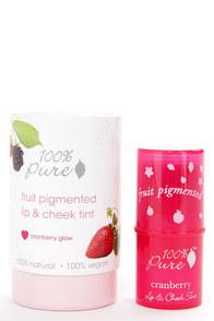 100% Pure Cranberry Glow Fruit Pigmented Lip & Cheek Tint at Lulus.com!