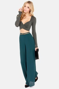 On Crop of the World Grey Crop Top at Lulus.com!