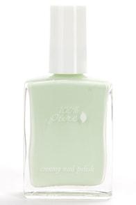 100% Pure Seafoam Creamy Light Green Nail Polish at Lulus.com!