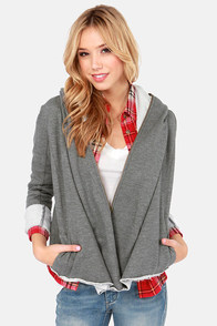 Set Me Free Hooded Grey Sweatshirt at Lulus.com!