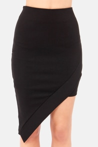 Popular Opinion Asymmetrical Black Skirt at Lulus.com!