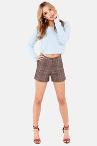 Personal Cropper Cropped Light Blue Sweater at Lulus.com!