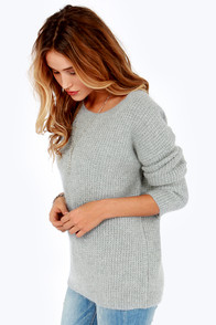 Heavy Petting Grey Sweater at Lulus.com!