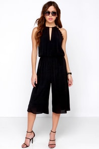 For Sienna Back Again Black Midi Jumpsuit at Lulus.com!