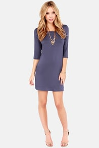 LULUS Exclusive Lots of Love Slate Blue Shift Dress at Lulus.com!