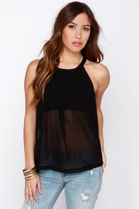 To A-Veil Black Top at Lulus.com!