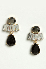 Set the Stone Black Dangle Earrings at Lulus.com!