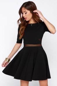 Black Swan Kelsey Black Dress at Lulus.com!