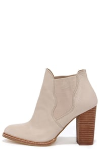 Chinese Laundry Zane Cream Leather High Heel Booties at Lulus.com!