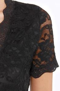 Tour de Allure Black Lace Dress at Lulus.com!