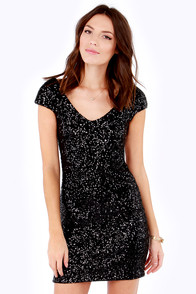 Lovers + Friends Bahama Mama Backless Black Sequin Dress at Lulus.com!