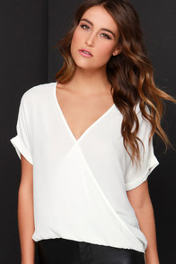 Wrap Star Ivory High-Low Top at Lulus.com!