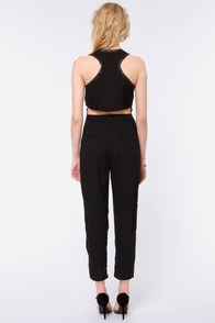 Jump For Joy Black Jumpsuit at Lulus.com!
