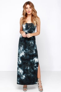 Gentle Fawn Pollock Slate Blue Tie-Dye Maxi Dress at Lulus.com!
