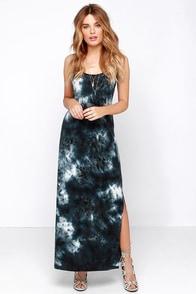 Gentle Fawn Pollock Slate Blue Tie-Dye Maxi Dress at Lulus.com!