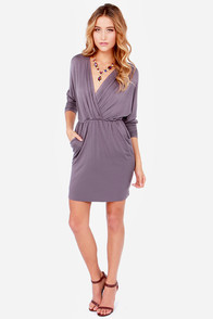 LULUS Exclusive Ruche Decision Dusty Purple Dress at Lulus.com!