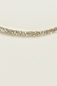 Le Petit Diamant Gold Rhinestone Necklace at Lulus.com!