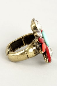 Bright About Now Red Rhinestone Ring at Lulus.com!