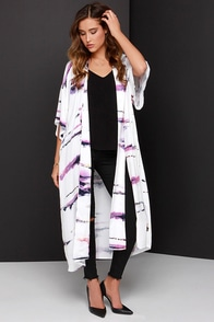 Somedays Lovin' The Sun Sets Ivory Print Kimono Top at Lulus.com!