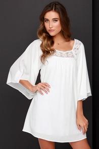 Dee Elle Seaside Sweetie Ivory Shift Dress at Lulus.com!