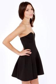 Blaque Label Curvin' Call Strapless Black Dress at Lulus.com!