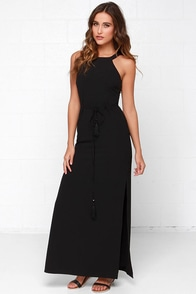 Black Swan Indulgence Black Maxi Dress at Lulus.com!