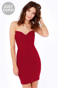 LULUS Exclusive Sound Off Strapless Red Dress at Lulus.com!