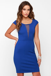 Black Swan Noire Blue Dress at Lulus.com!