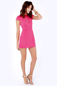 Slit or Miss Hot Pink Dress at Lulus.com!