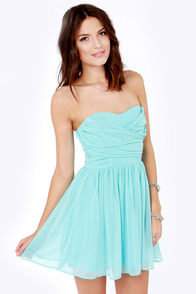 LULUS Exclusive Sash Flow Strapless Light Blue Dress at Lulus.com!