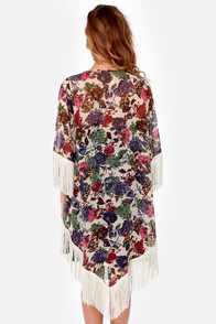 Somewhere My Love Purple and Beige Kimono Top at Lulus.com!