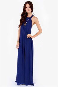 LULUS Exclusive T Party Royal Blue Maxi Dress at Lulus.com!