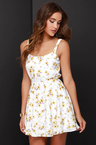 Lucca Couture Floral Debut Ivory Floral Print Dress at Lulus.com!