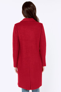 Cold Remedy Red Coat at Lulus.com!