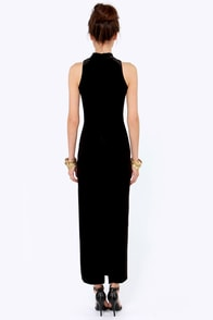 Mink Pink There She Goes Black Velvet Maxi Dress at Lulus.com!