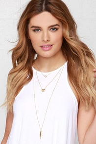 Pretty Little Layer Gold Layered Necklace at Lulus.com!