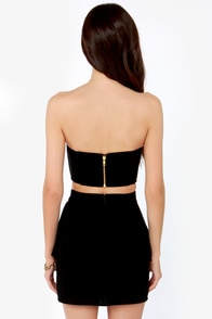 Mink Pink My Way or the Highway Black Bustier Top at Lulus.com!
