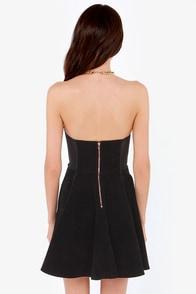 Mink Pink Saint Bernadette Strapless Black Dress at Lulus.com!