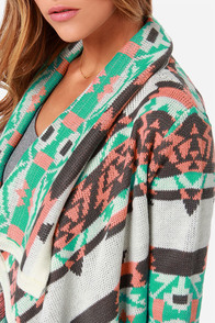 Southwest-ing Game Peach Print Cardigan Sweater at Lulus.com!