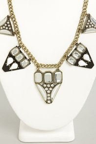 Ice Chips Black and White Necklace at Lulus.com!