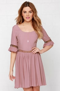No Doubt About It Mauve Dress at Lulus.com!