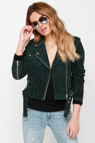 Obey City Moto Forest Green Suede Jacket at Lulus.com!