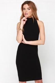 Figure Eight Black Bodycon Dress at Lulus.com!