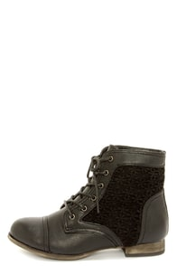 Wild Diva Lounge Tosca 85A Black Lace-Up Ankle Boots at Lulus.com!