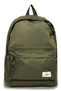 Obey Laroche Army Green Backpack at Lulus.com!