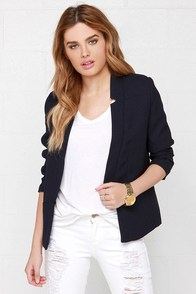 Sugarhill Boutique Spring Navy Blue Blazer at Lulus.com!