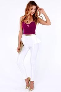 Haymaker Magenta Velvet Bustier Top at Lulus.com!