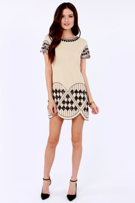 You're the Fun Beige Sequin Dress at Lulus.com!