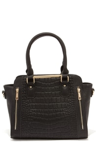 Emboss Me Around Black Handbag at Lulus.com!