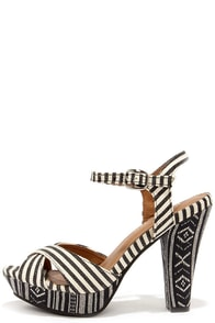 Restricted Perfect Strip Black Guatemala High Heel Sandals at Lulus.com!